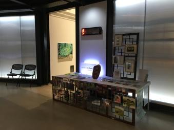 mini paintings on display